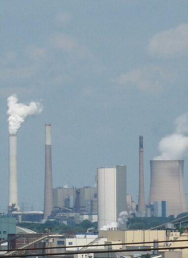 power plant, industry, smoke